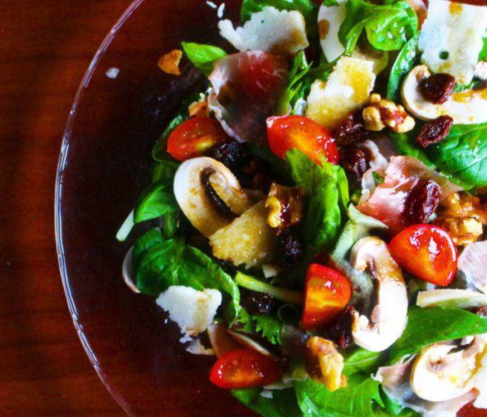 【週末レシピ】 ルッコラと生ハムのサラダ