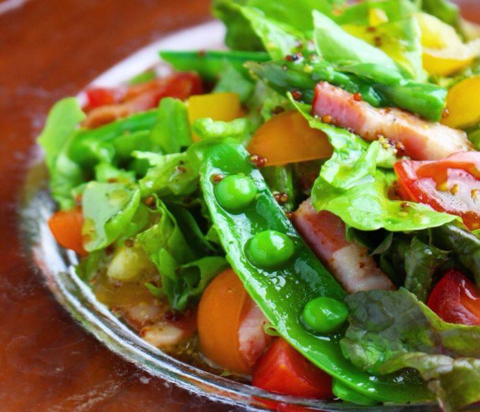 春野菜のサラダ <br> さっぱりフレンチドレッシングで