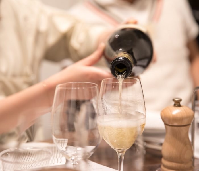 週末の ワイン会