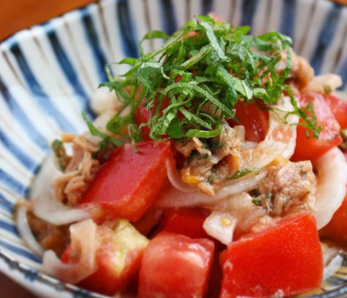 【レシピ 】簡単美味しい! <br>新玉ねぎとツナ、トマトのサラダ