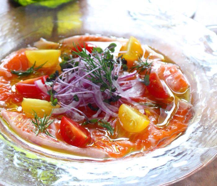 【レシピ】サーモンの華やか カルパッチョ