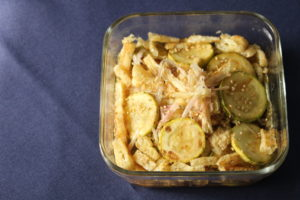 【作り置きレシピ 】ズッキーニと油揚げの和え物