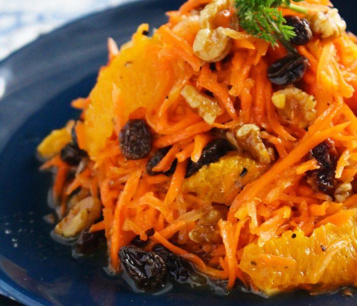 【簡単作り置きレシピ】オレンジとレーズン、くるみの キャロットラぺ