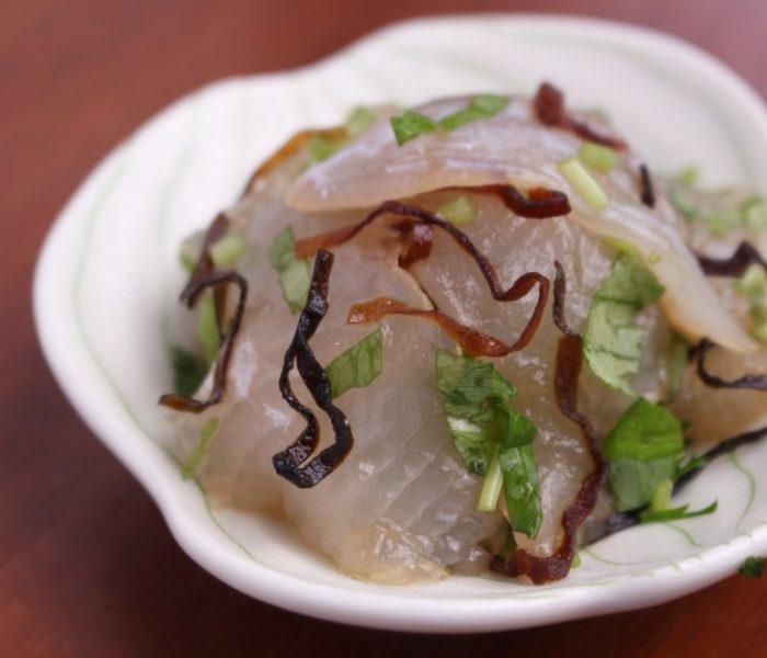 【酒つまレシピ】 鯛の塩昆布和え (簡単!小料理屋の味)