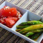 【簡単作り置きレシピ 】 ナムル2種<br>(ネギ塩トマト・ピリ辛アスパラ)