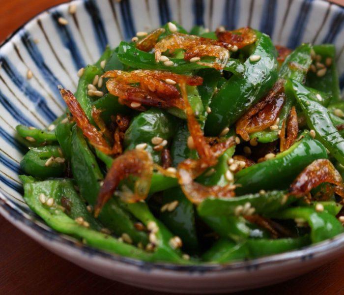 【作り置きレシピ】 ピーマンと干し海老の中華炒め