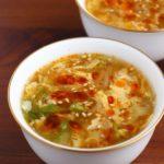 【レシピ】白菜と卵の中華スープ (酸辣湯風)
