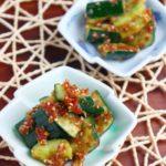 【簡単レシピ】やみつきおつまみ♫ たたききゅうりの梅和え