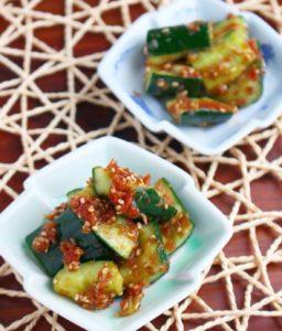 簡単レシピ やみつきおつまみ♫たたききゅうりの梅和え