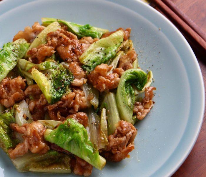 【簡単レシピ】豚肉とレタスの オイスター炒め