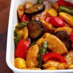 【作り置きレシピ】 鶏胸肉と夏野菜の酢豚風