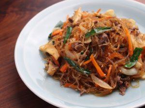 【作り置きレシピ】子供にも人気の韓国料理♫ チャプチェ