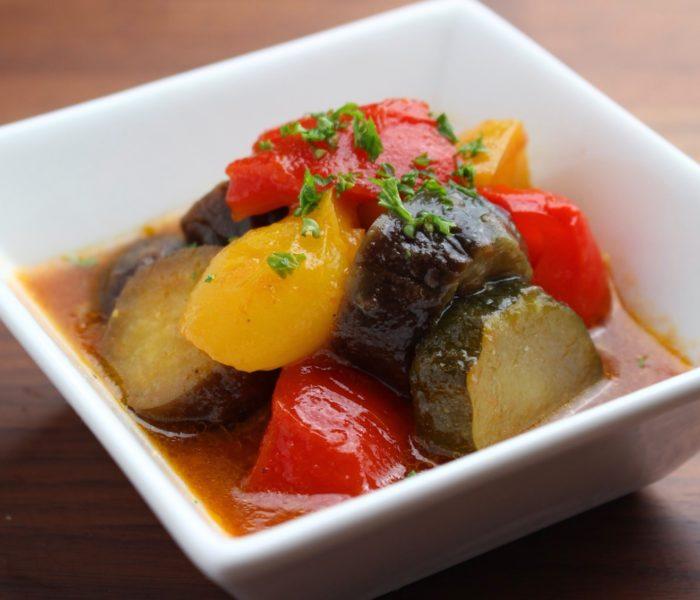 【レシピ】ラタトゥイユ(夏野菜のトマト煮込み)