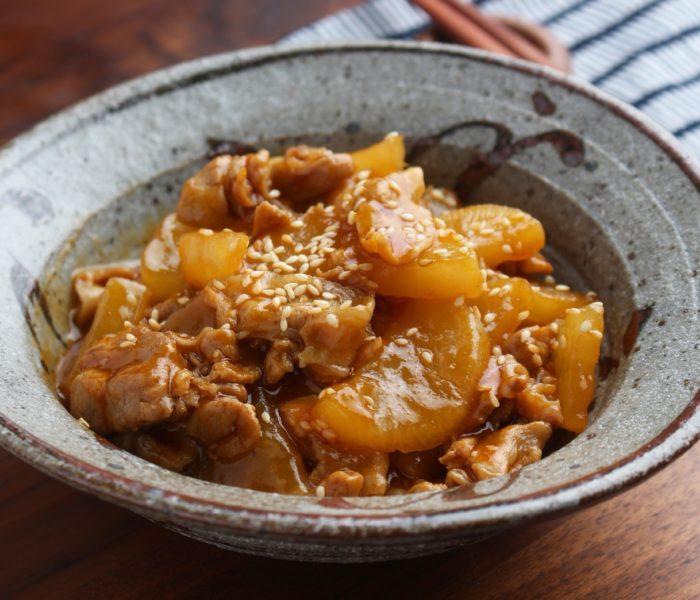 【簡単レシピ】大根と豚バラ肉のコチュジャン煮込み
