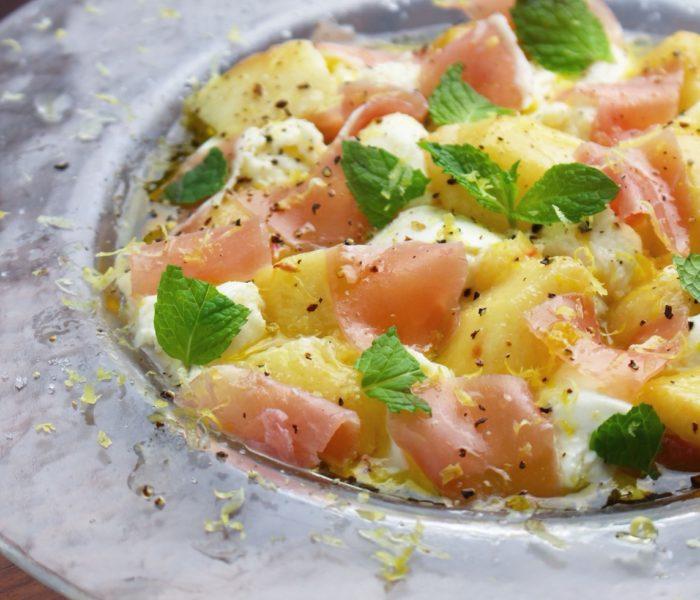 【レシピ】桃とモッツァレラ、生ハムの前菜